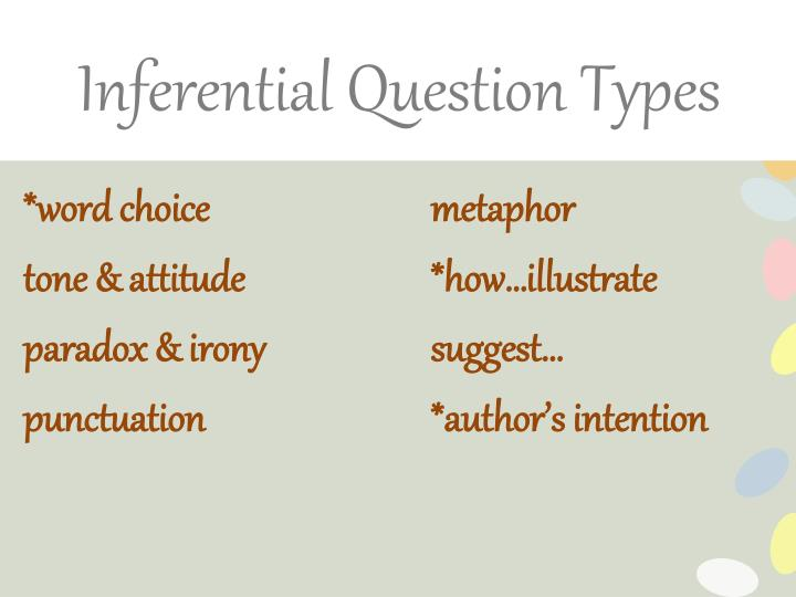 Inferential Question
