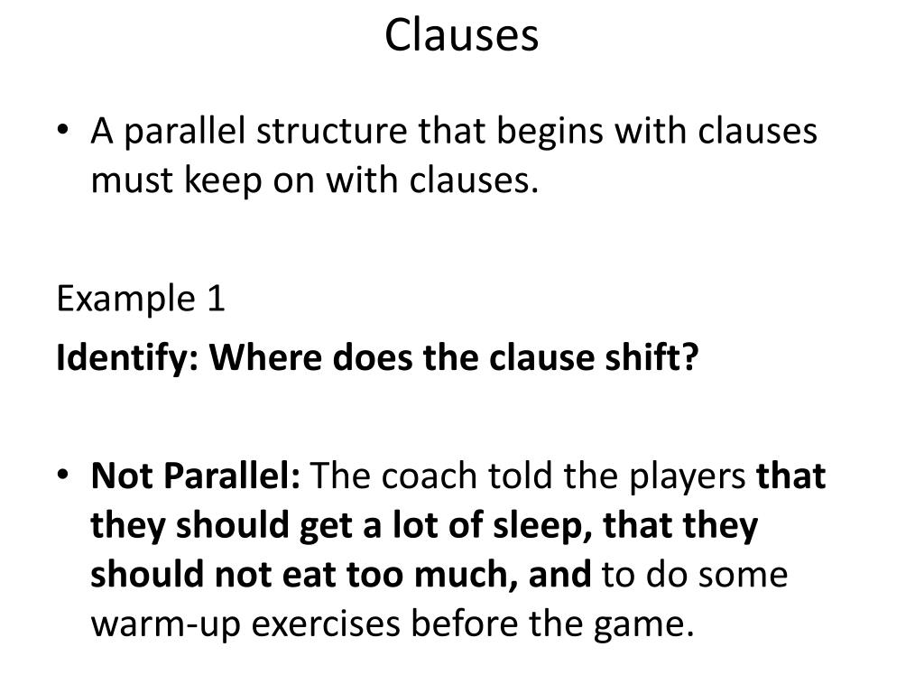 PPT - Parallel Structure PowerPoint Presentation - ID:2591779