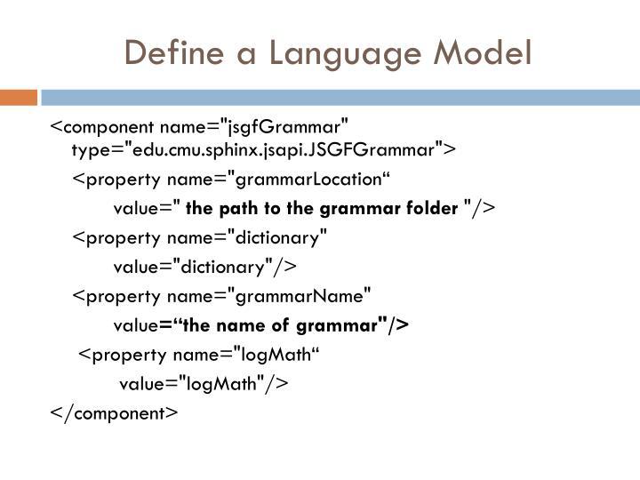 Define a Language Model