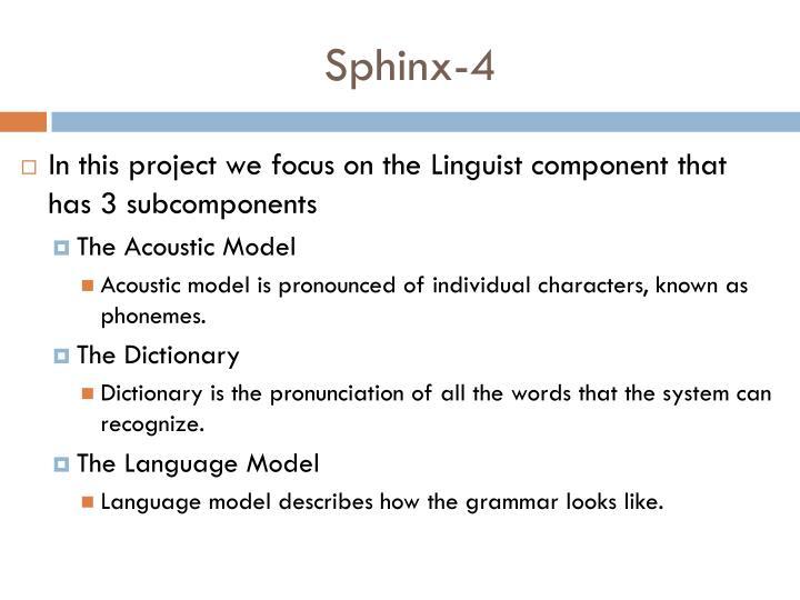 Sphinx-4