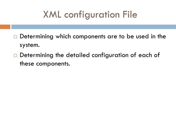 XML configuration File