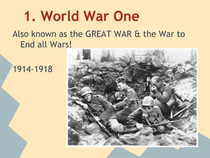 1 world war one