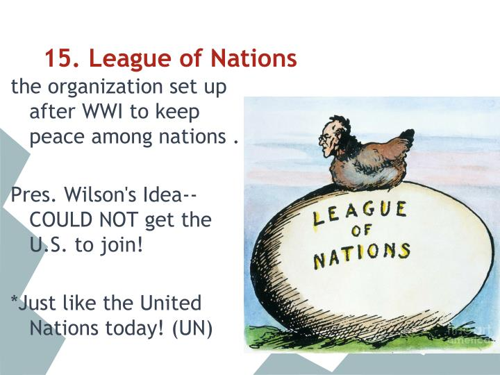 15. League of Nations