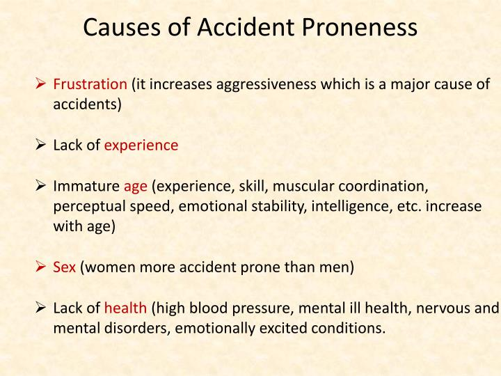 Causes of Accident Proneness