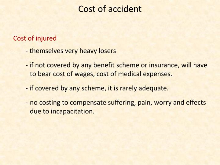 Cost of accident