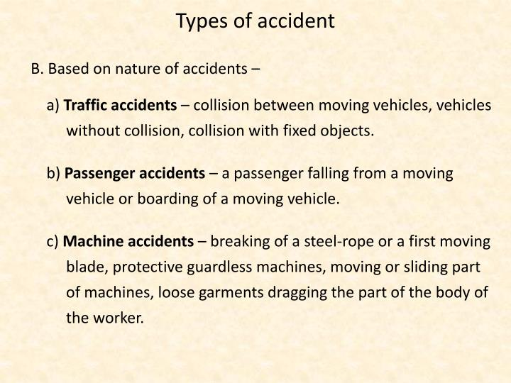 Types of accident