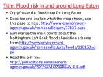 title flood risk in and around long eaton
