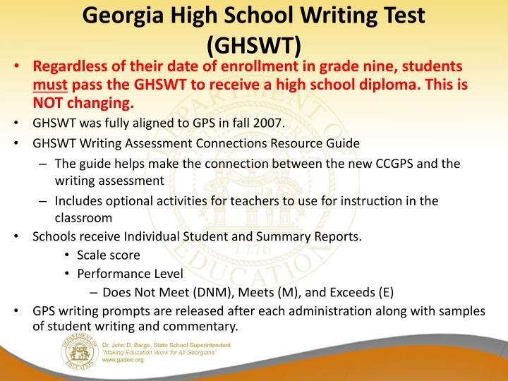 Georgia high school writing test ghswt