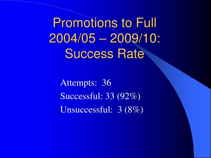 Promotions to