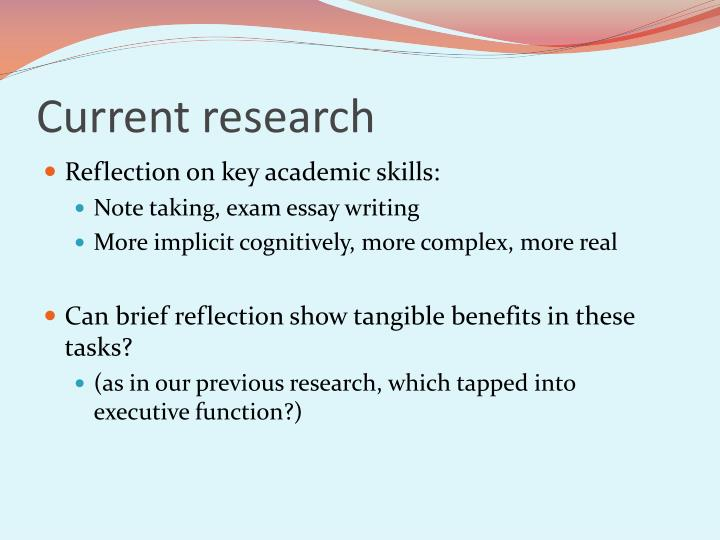 reflection on study skills View study skills mid term reflection from bus adm 370 at university of wisconsin study skills module mid-term reflection and pdp template name student id study.