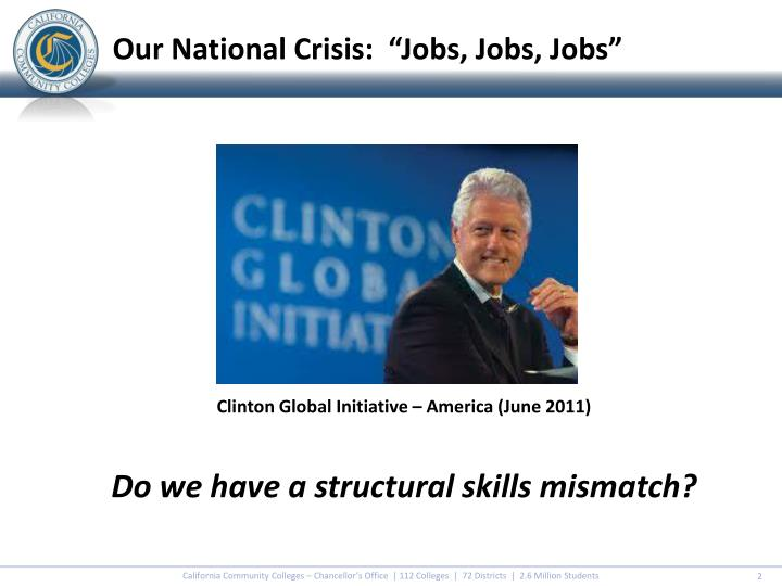 Clinton global initiative america june 2011 do we have a structural skills mismatch