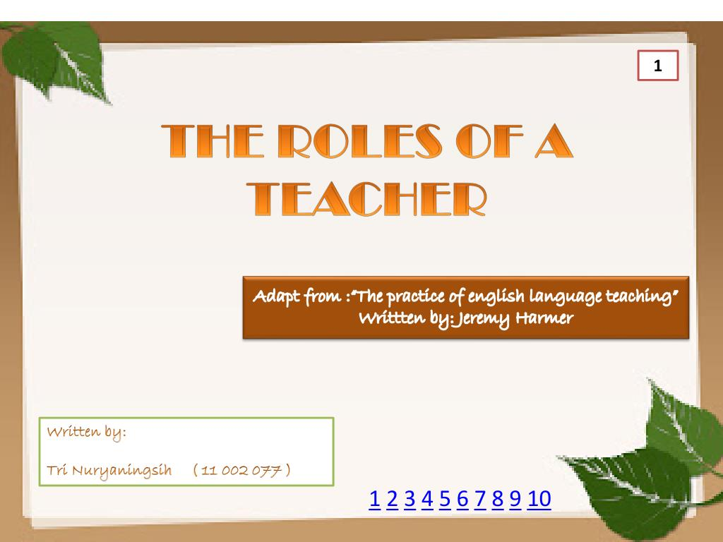 PPT - THE ROLES OF A TEACHER PowerPoint Presentation - ID:2592132