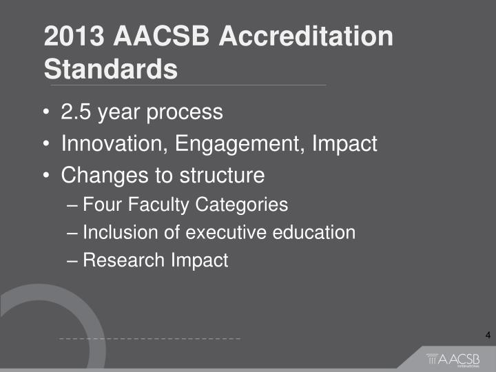 2013 AACSB Accreditation Standards