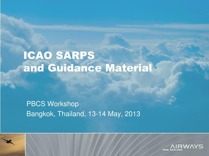 icao sarps and guidance material n.