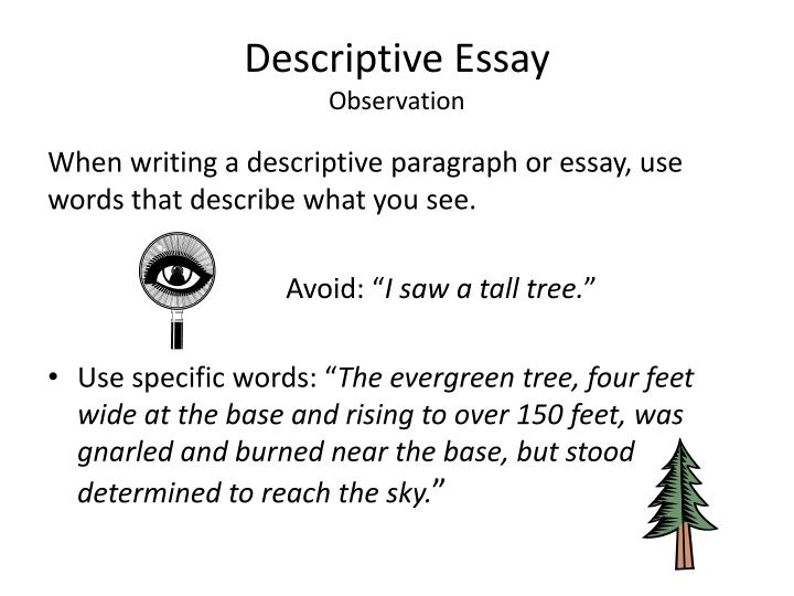 how do you write a descriptive essay Writing descriptive essays about people reading more on the topic can make you more knowledgeable and maybe even inspire you to write a fascinating descriptive.