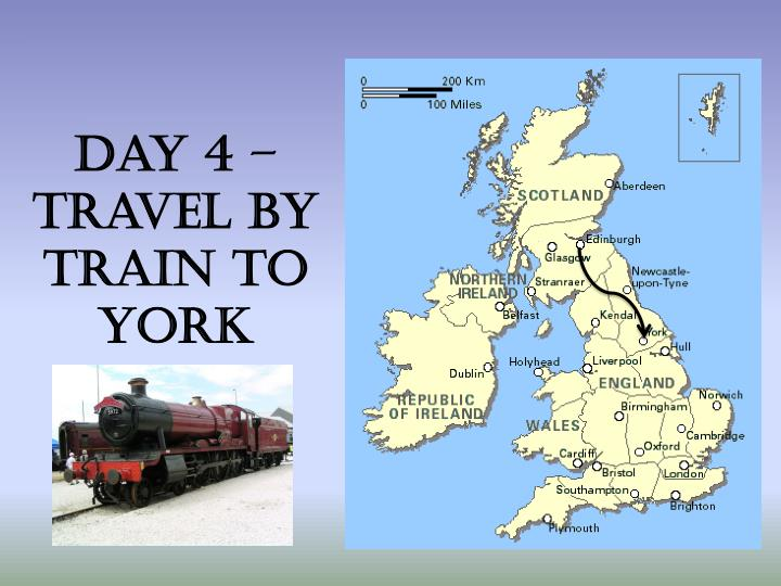Day 4 – travel by train to