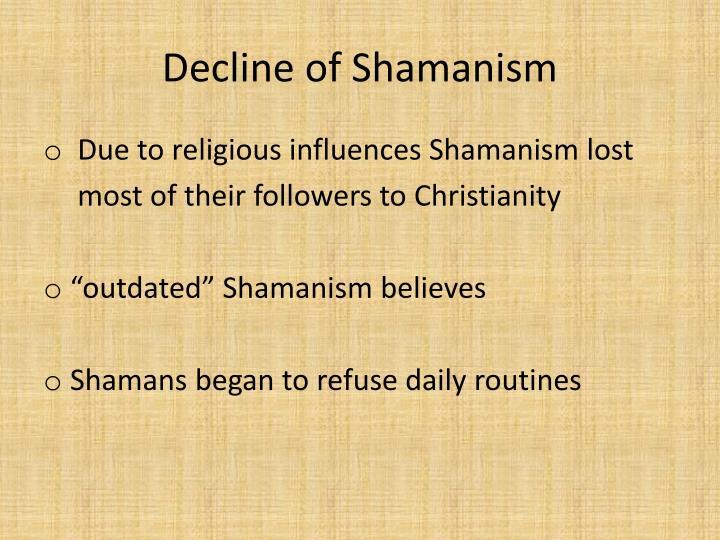 Decline of Shamanism