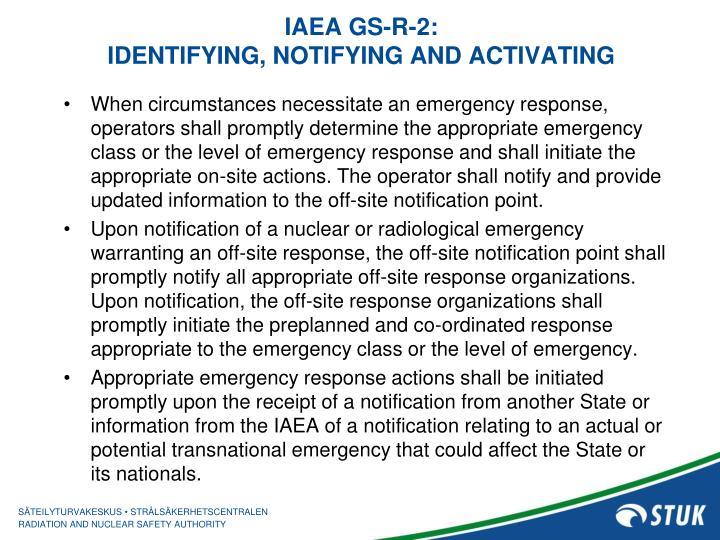 IAEA GS-R-2: