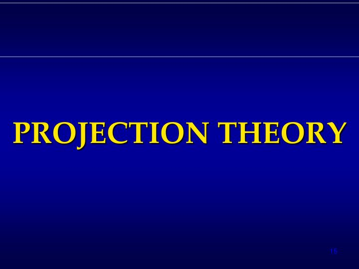 PROJECTION THEORY