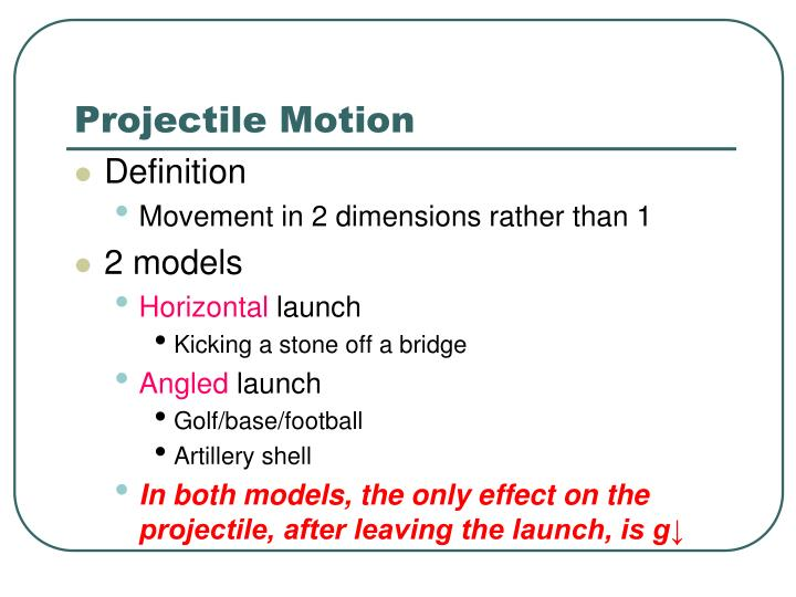 ppt projectile motion powerpoint presentation id 2592733