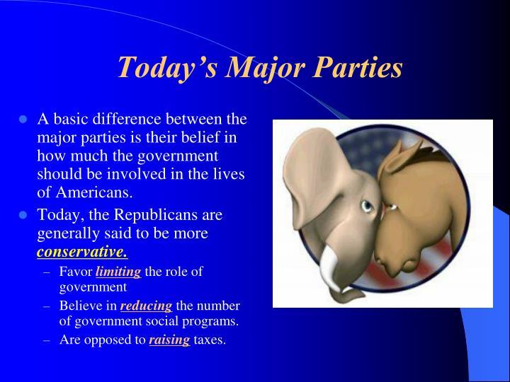 Today's Major Parties