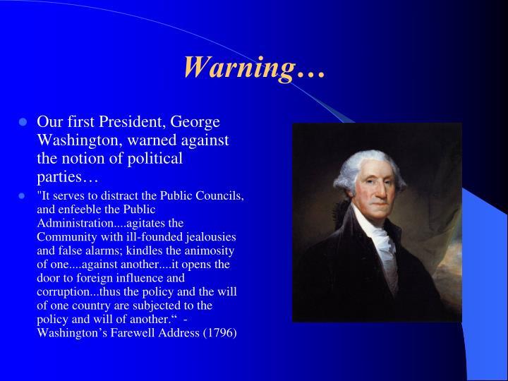 Warning…