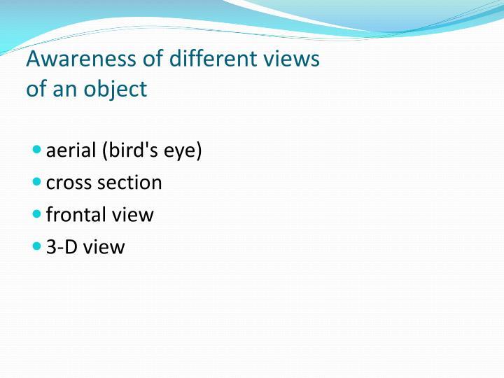 Awareness of different views