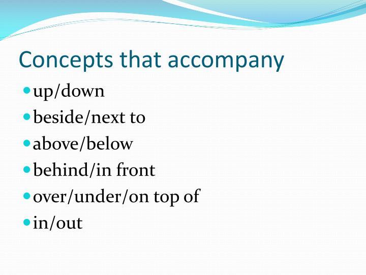 Concepts that accompany