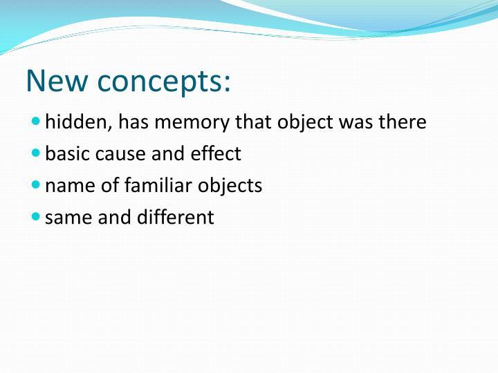 New concepts: