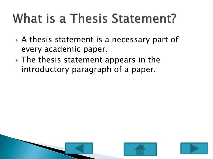 introduction paragraph for a thesis paper Introduction: introductory paragraph  paragraph should also include the thesis statement, a kind of mini-outline for the paper: it tells the reader what the essay.