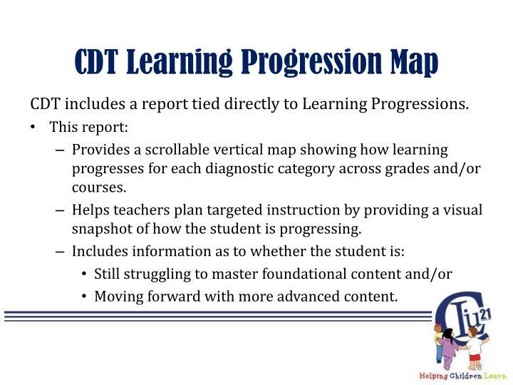 CDT Learning Progression Map