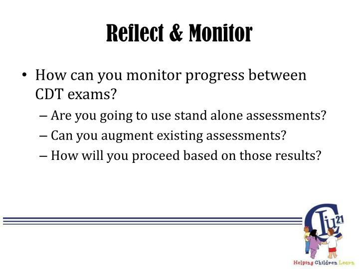 Reflect & Monitor