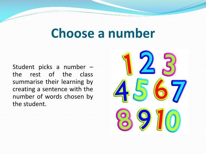 Choose a number