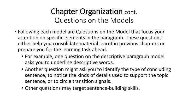 Chapter Organization