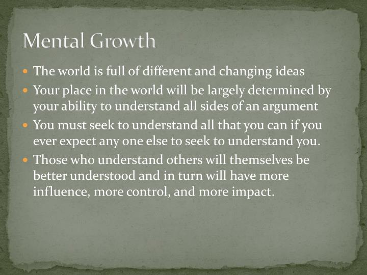 mental growth Read the full-text online edition of the mental growth of the pre-school child: a psychological outline of normal development from birth to the sixth year,.