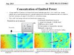 concentration of emitted power