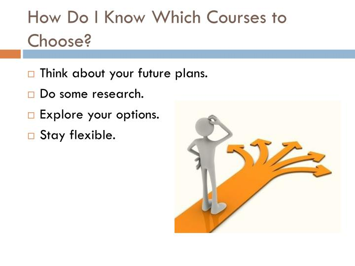 How Do I Know Which Courses to Choose?