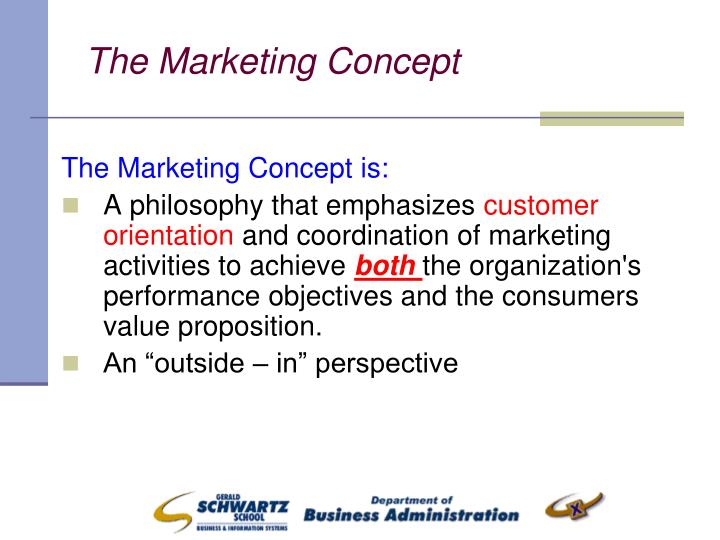 The Marketing Concept is: