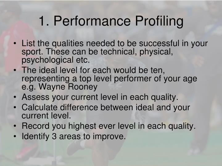 1. Performance Profiling