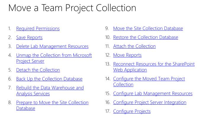 Move a Team Project Collection