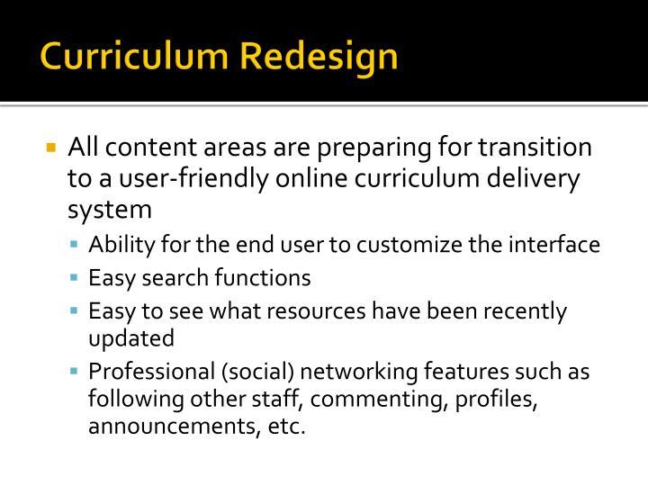 Curriculum Redesign