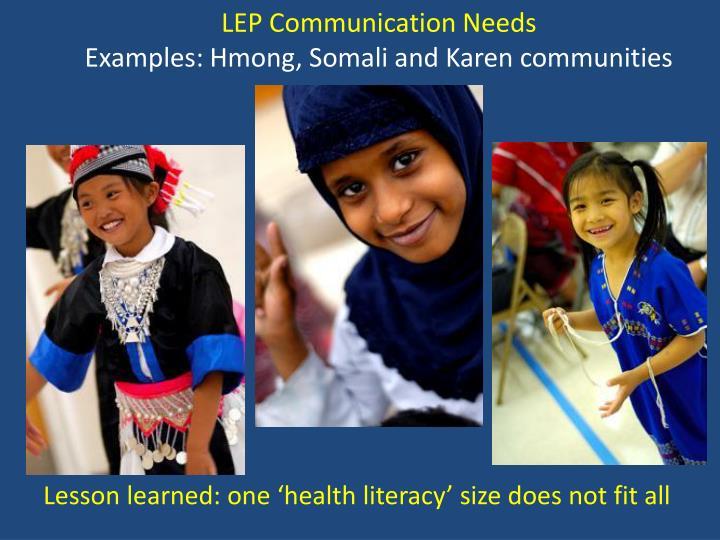 LEP Communication Needs