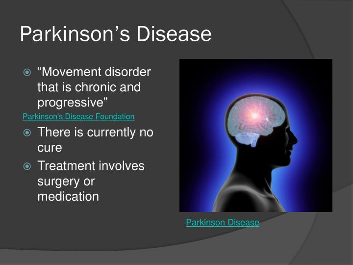parkinson s disease outline Systems interacting in parkinson's disease a immune system b endocrine system c gastrointestinal system d central nervous system e neurotransmitters, hormones, and cytokines iii the path of progression of pd a predisposing factors b initiating triggers iv.