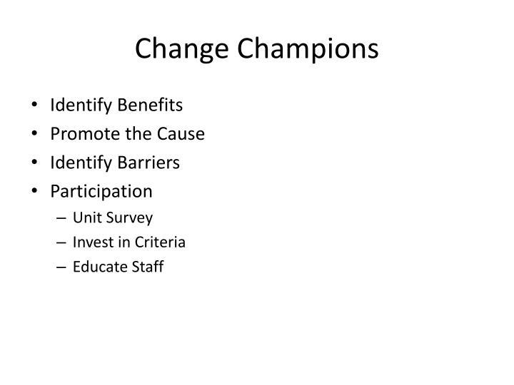 Change Champions