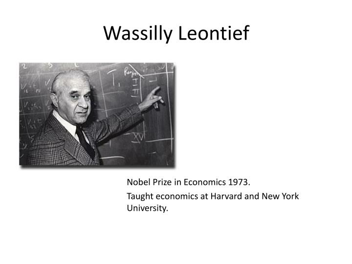 Wassilly leontief