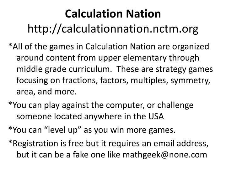 Calculation Nation