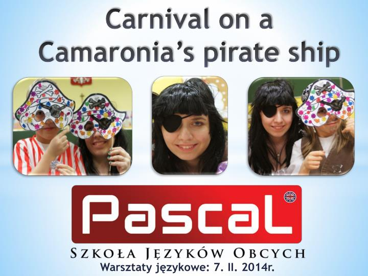 carnival on a camaronia s pirate ship n.