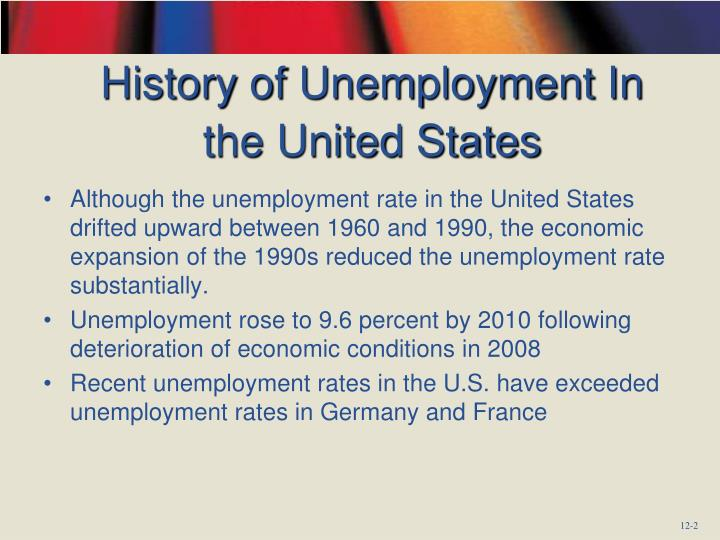History of unemployment in the united states