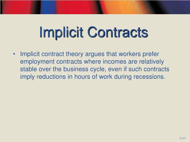 Implicit Contracts