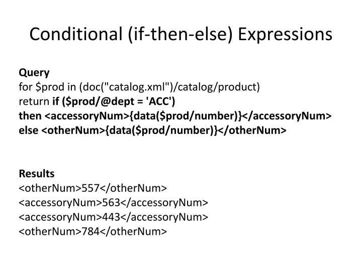 Conditional (if-then-else) Expressions